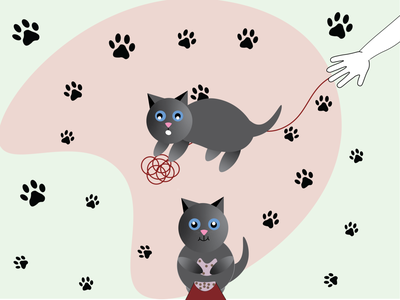 Those little paws! illustrations graphic design