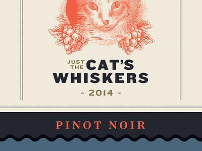 Feline wine hedcut woodcut packaging label design wine
