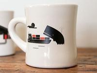 Diner mugs