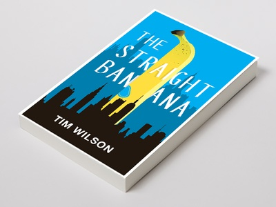 Straight Banana typography design book cover