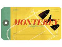 Monterey luggage label