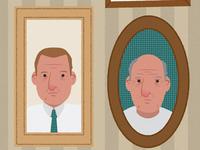 Gaming & aging illustration