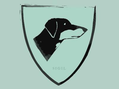 House sigils dork houses sigils crests words illustration design beagle doberman game of thrones