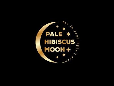 PALE HIBISCUS MOON LOGO