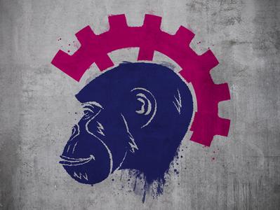steampunk ape sketch graffiti steampunk ape ape steampunk illustration design