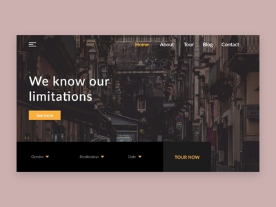 Tour package landing page