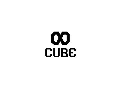 Minimalistic logo - INFINITY CUBE design visual identity typography logotype logodesign logo illustration branding