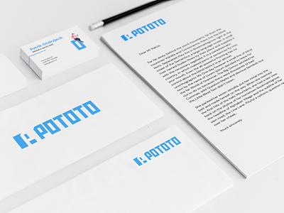 POTO.TO app - Branding print typography logo logotype logodesign illustration visual identity branding