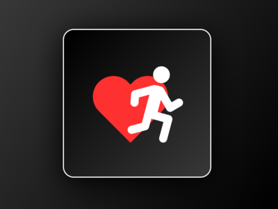 Running App Minimalistic Logo Icon