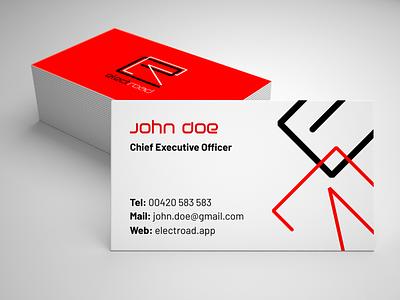 Branding / Business Card - electric mobility company business card businesscard design print typography logotype logodesign logo illustration visual identity branding