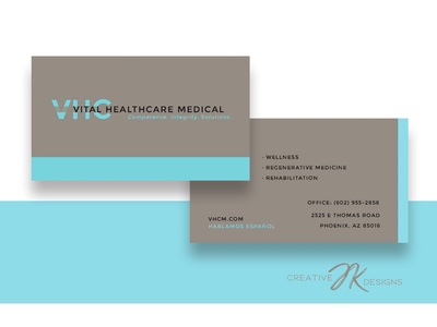 VHC Medical Business Cards