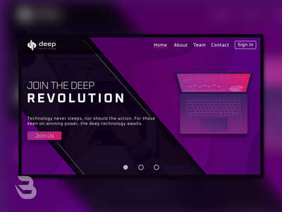 DEEP UI WEB DESIGN design company technology landing page logo ui design website webdesign ui