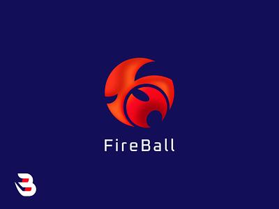 FIREBALL modern logo fire logo designer fire ball fire logo esport logo design game logodesign esports logo design esports logo