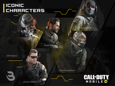 CHARACTERS CALL OF DUTY gaming website callofduty mobile chart characters mobile game callofduty codm graphics design logo esport instagram post banner esports graphic gaming game modern esports esports logo