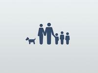 family & dog icon