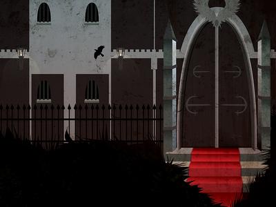 Castle entrance - Kafka - Before the Law - story illustration