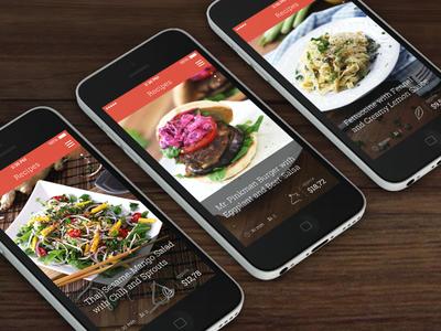 KptnCook iPhone App app iphone ui interface design food recipes