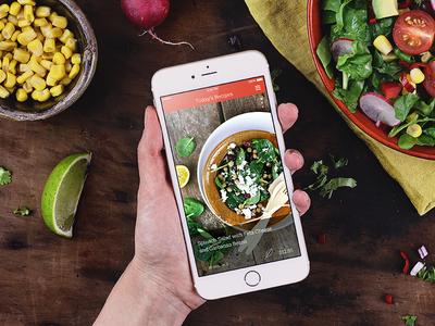 KptnCook Recipe App Update mobiledesign photography mobile ui recipes food iphone6plus iphone ios app