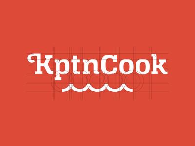KptnCook Logo font type vector construction slabserif wave wordmark typography branding identity logo
