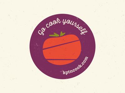 KptnCook Sticker script simple vegetable food illustration texture vector cooking tomato veggie sticker