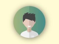 Metallic profile icon