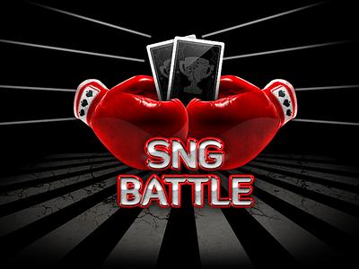 SNG Battle logo poker gaming gambling casino vegas logo branding chip