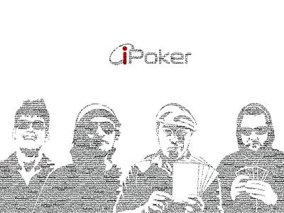 iPoker poker gaming casino gambling vegas blackandwhite typography