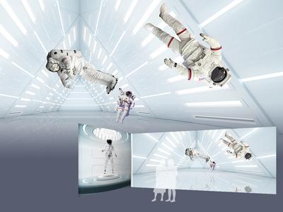 Space Week interior graphic design