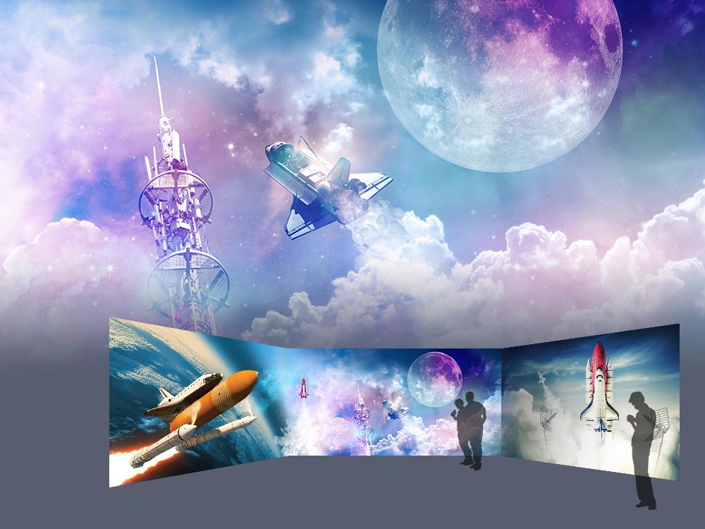 Space Week interior design spaceship shuttle astronaut galaxy stars space