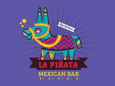 La Pinata Logo logo latin sugarskull skull selina pinata mexican mexico