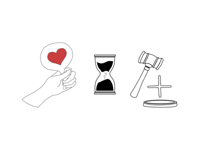 Donare illustrations love bidding