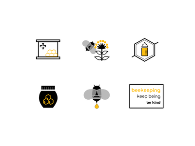 Icons for beekeeping website ecology beekeeping bees