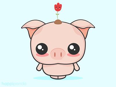 Little Pig cute animals illustration vector illustrator
