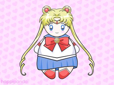 Kawaii Chibi Sailor Moon fan art sailor moon cute animals illustration vector illustrator