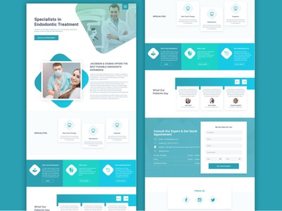 dental Clinic Landing page