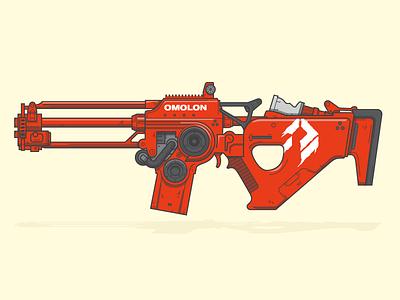 ((CHAOS DOGMA~)) wotm line art illustration vector scout rifle weapon destiny