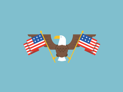 Merican Flags illustration vector merica 4th of july flag eagle america