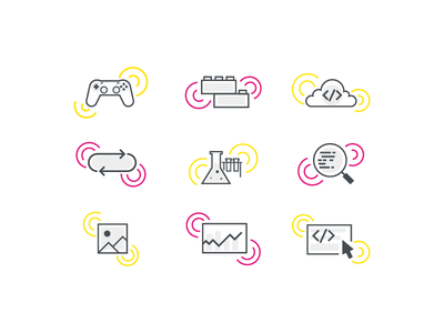 Incredible Icons illustration vector icons line icons wip