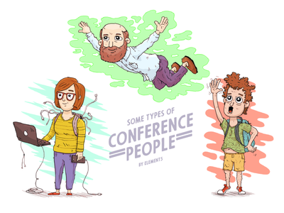 Conference People Illustrations character people conference photoshop illustration