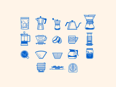 Coffee Icons vector icons coffee