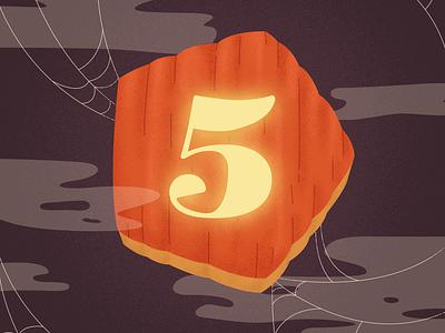 E5 Halloween spider web pumpkin spooky illustration element5 halloween