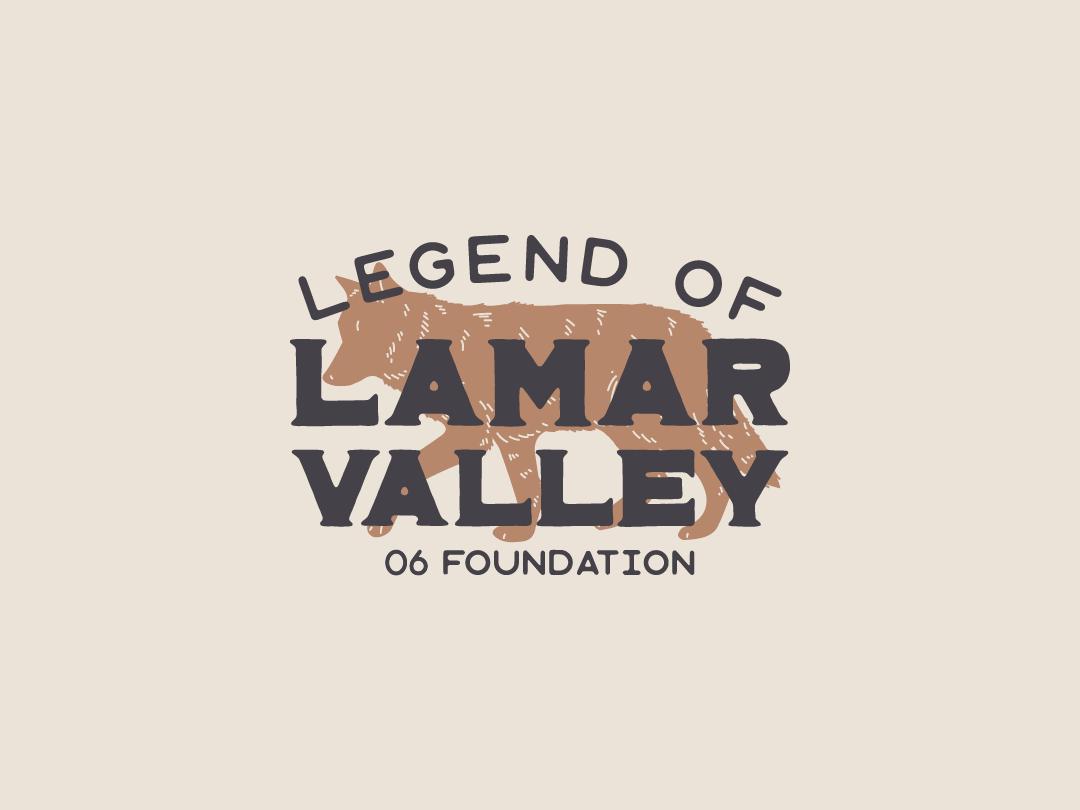 Lamar Valley WIP illustrator 06 legacy wolf logo vector wip