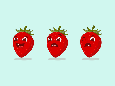 Berry Good Faces character vector fruit illustration fruit strawberry