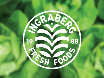 Ingraberg Fresh Foods farm vector badge logo produce branding logodesign logo