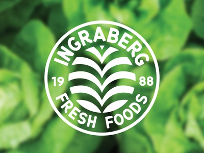 Ingraberg Fresh Foods farm vector badge logo produce branding logodesign logo