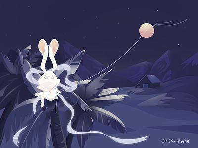 Jade rabbit app vector branding design illustration