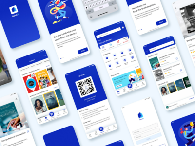 📖 BookIT : Library Assistant App casestudy assistant mobile library book blue app ux ui