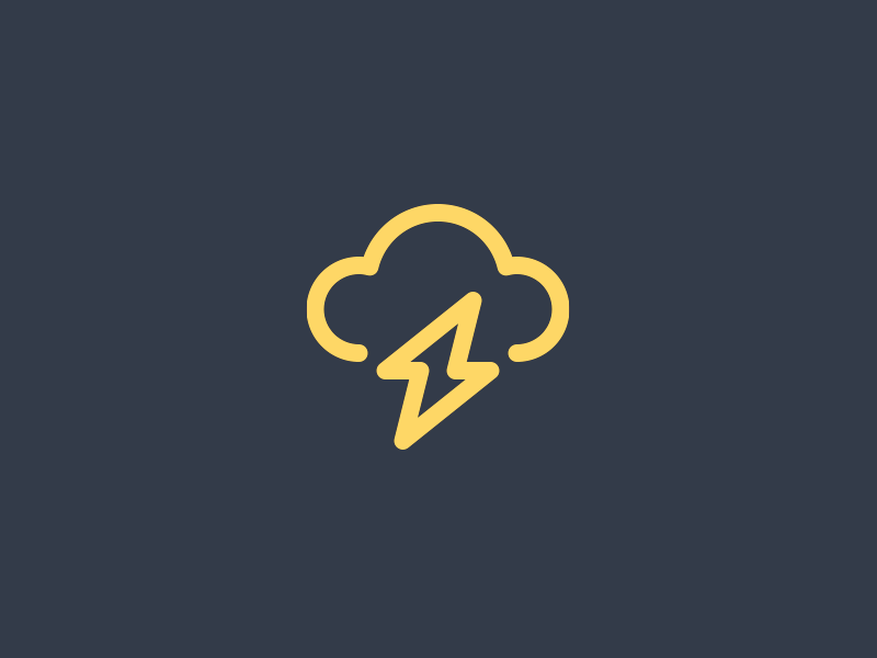 Lightning forecast shock cloud logo symbol iconography icon weather strike electricity storm lightning