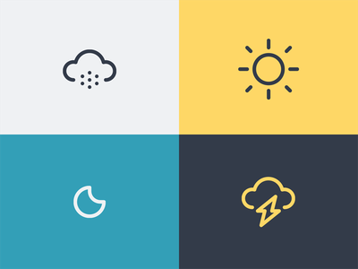 Weather forecast season lightning logo symbol iconography icon weather moon sun cloud snow