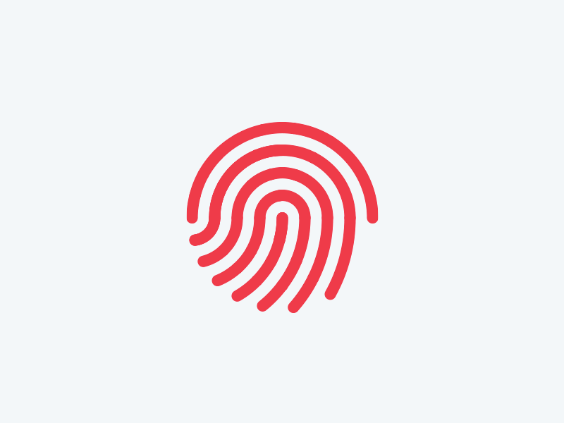 Touch touch hand scan iconography icon unlock security identify id identity print finger